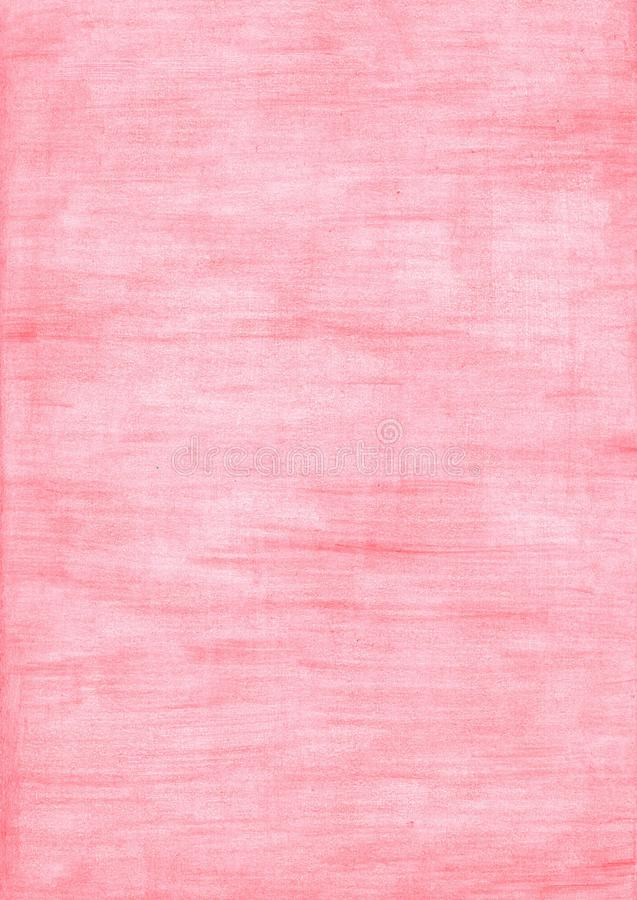 Coral red rectangle sheet of paper colored with pencil royalty free stock photography