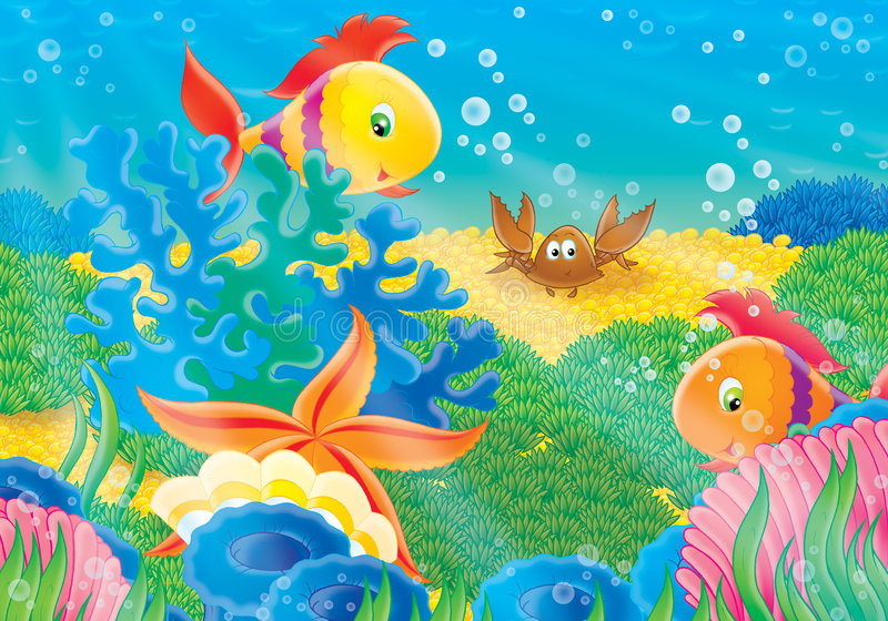 Coral reef vector illustration