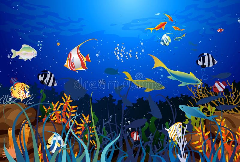 Coral reef royalty free illustration