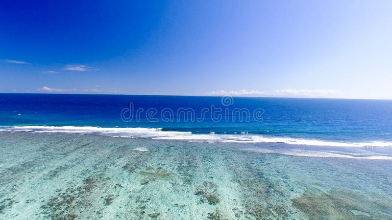 Coral Reef Barrier, aerial view.  royalty free stock photos