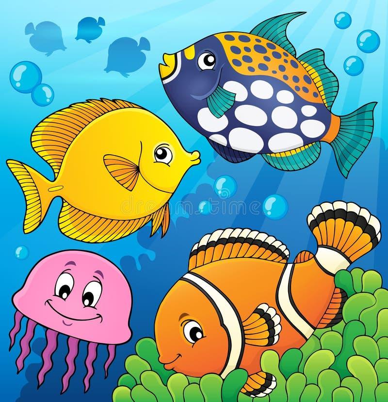 Coral reef fish theme image 9 royalty free illustration