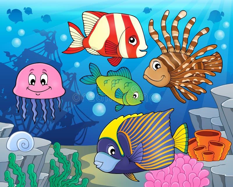 Coral reef fish theme image 2 royalty free illustration