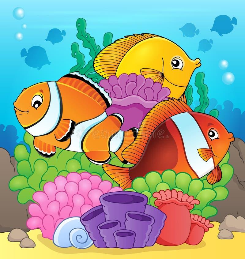 Coral reef fish theme image 7 stock illustration