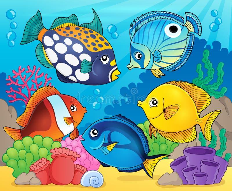Coral reef fish theme image 8 royalty free illustration