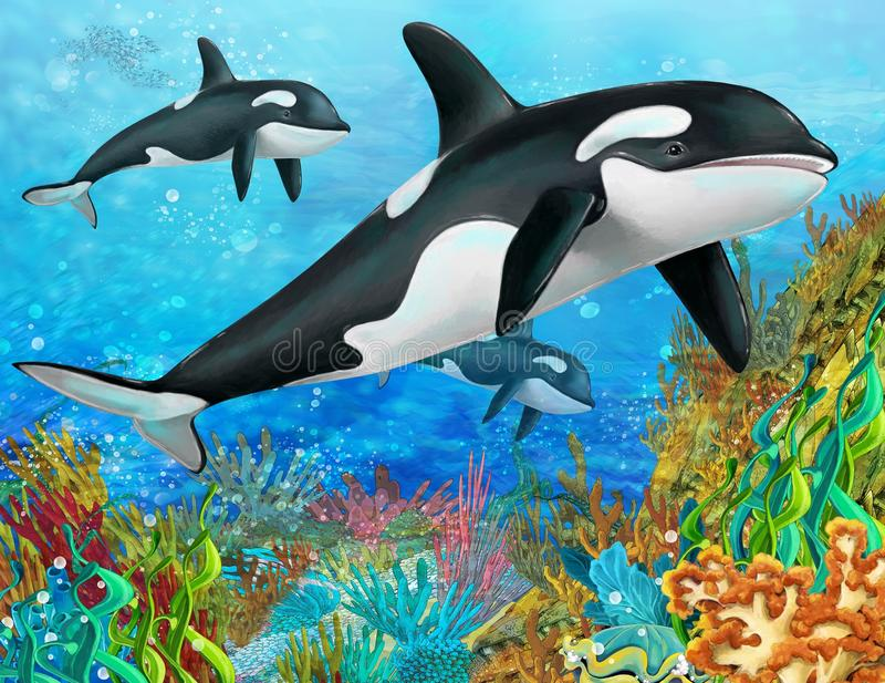 The coral reef - illustration for the children vector illustration