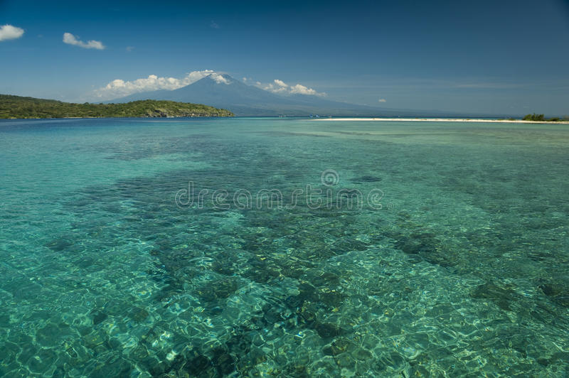 Coral Reef, Menjangan Island. Menjangan Island is a small island, located 5 miles to the northwest of Bali island, is known for it's healthy colorful reef and royalty free stock photo