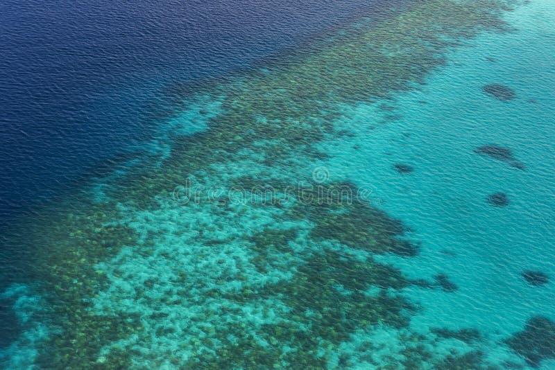Coral Reef och detalj av atollen arkivbilder