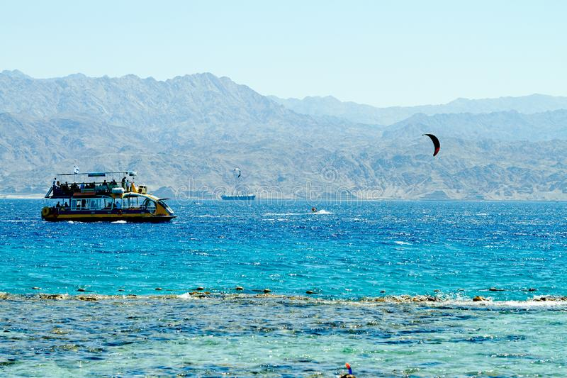 Coral reef on the Red Sea Eilat stock images