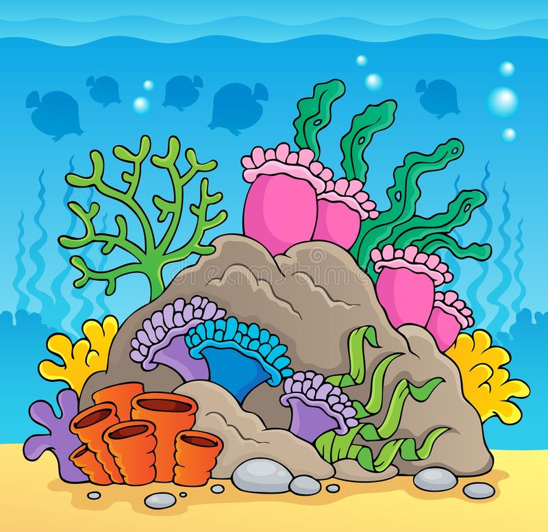 Coral reef theme image 2 royalty free illustration