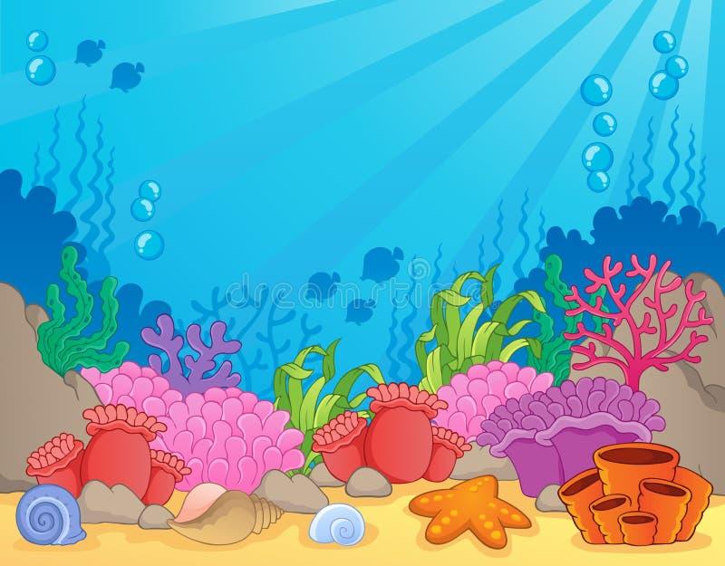 Coral reef theme image 4. Vector illustration stock illustration