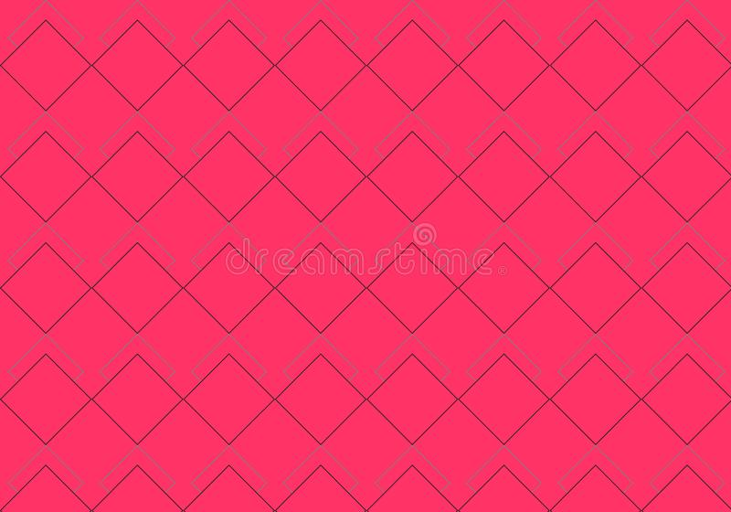 Coral Rhombus Pattern vector illustratie