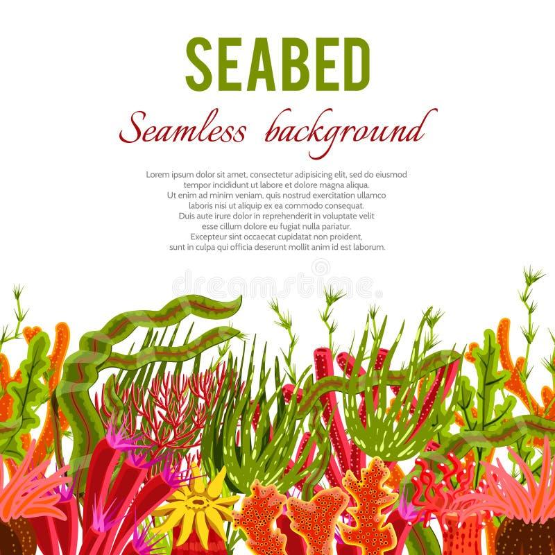 Coral Seabed Background royaltyfri illustrationer
