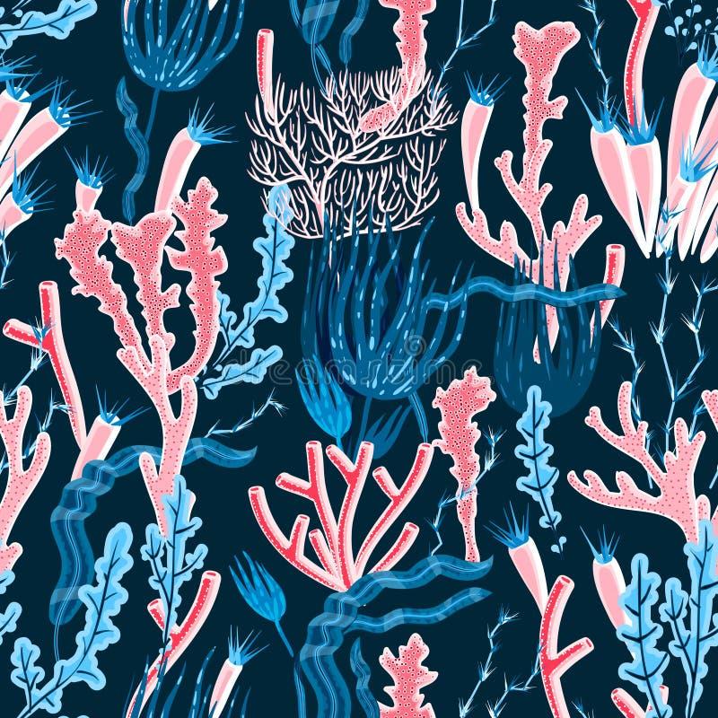 Coral Seamless Pattern royalty-vrije illustratie