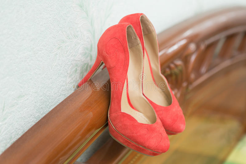Download Coral Wedding Shoes Stock Image Of Nobody Marriage