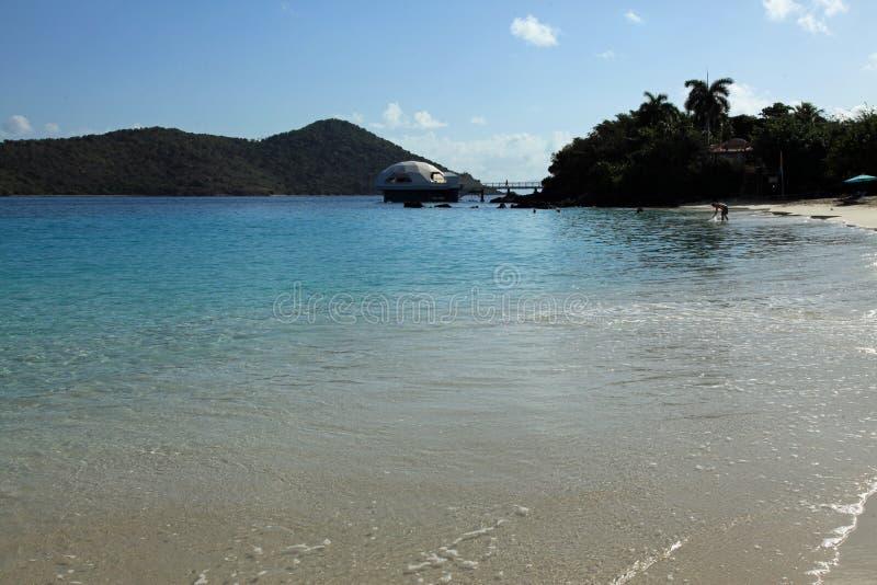 Coral World på den Coki fjärden i St Thomas arkivfoto