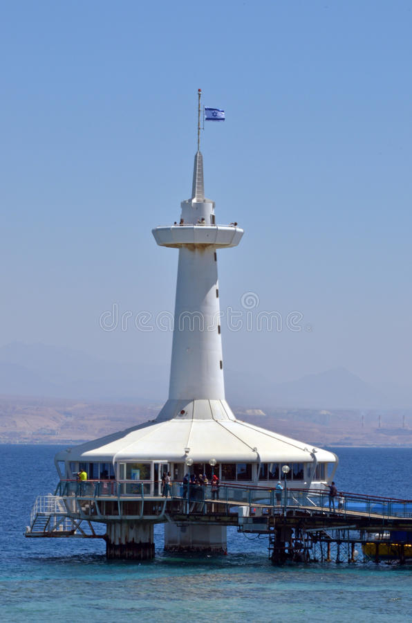 Coral World Underwater Observatory aquarium in Eilat Israel stock image