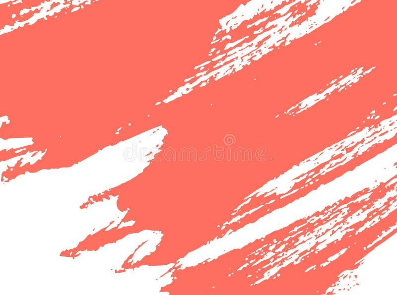 Corallo vivente, colore del colpo della pittura da 2019 anni illustrazione vettoriale