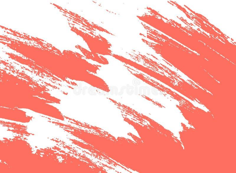 Corallo vivente, colore del colpo della pittura da 2019 anni immagini stock