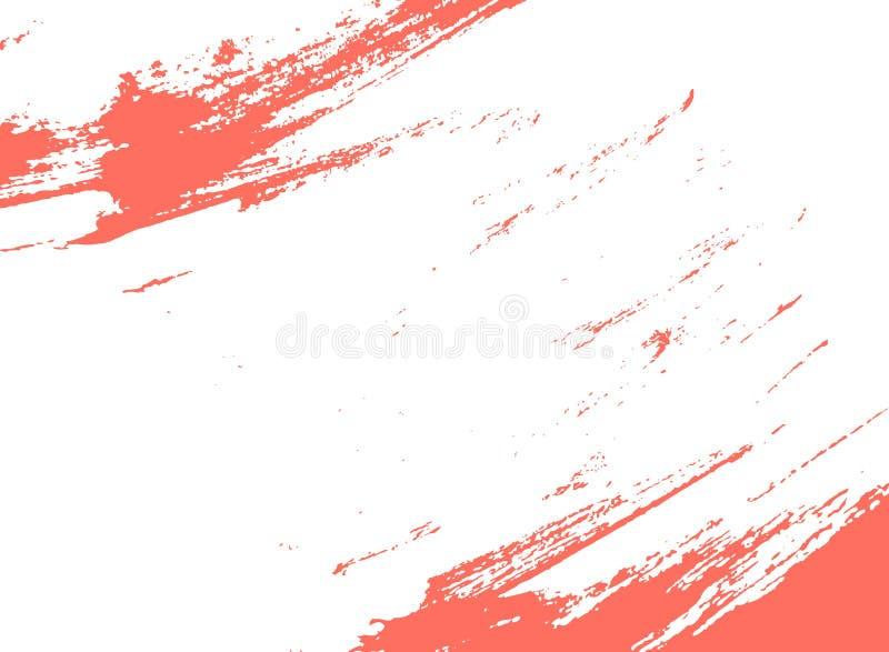 Corallo vivente, colore del colpo della pittura da 2019 anni royalty illustrazione gratis