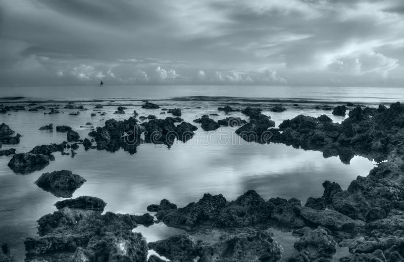 Corals of Rising Sun. Sunrise in Pemuteran village, Bali, Indonesia royalty free stock images