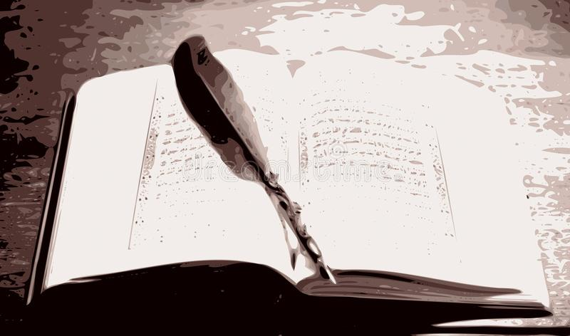 Coran viejo ilustración del vector