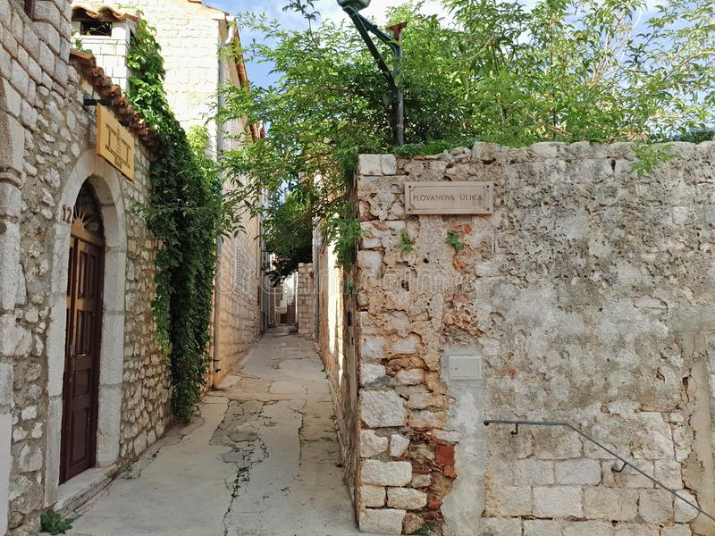 Coratia, l'histoire d'exposition de rue tellement photos libres de droits