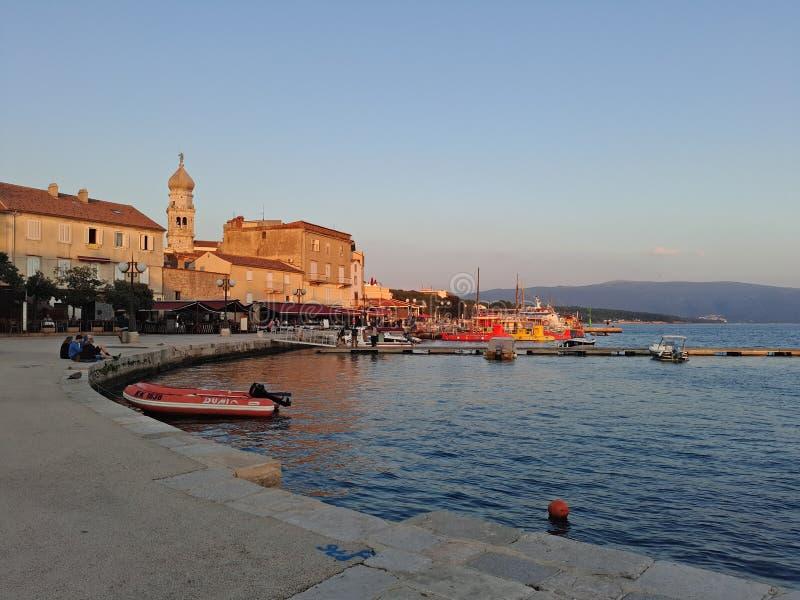 Coratia min bästa stad med många årshistoria royaltyfri fotografi