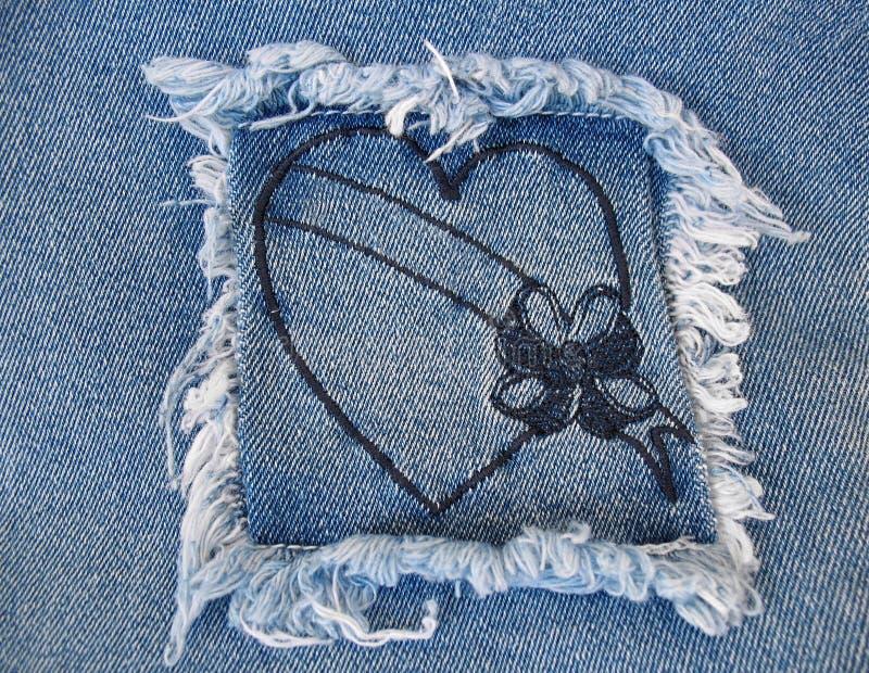 Corazón 2 Del Dril De Algodón Imagen de archivo