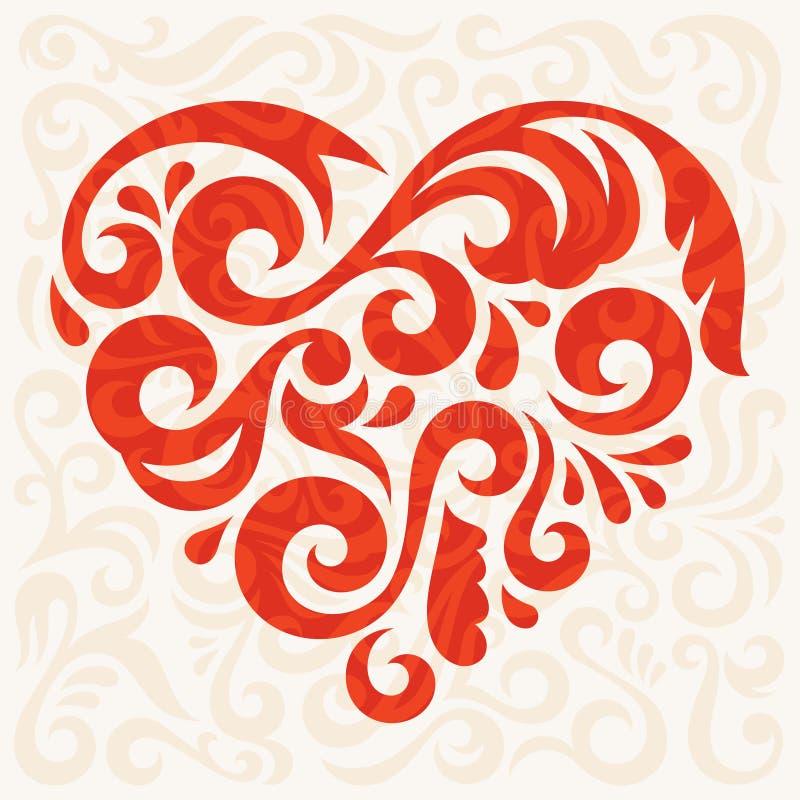Corazón abstracto ilustración del vector