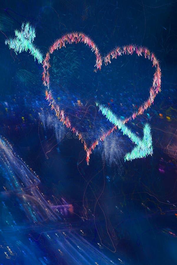 Corazón abstracto foto de archivo
