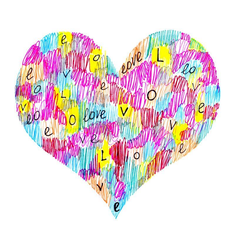 Corazón abstracto del color stock de ilustración