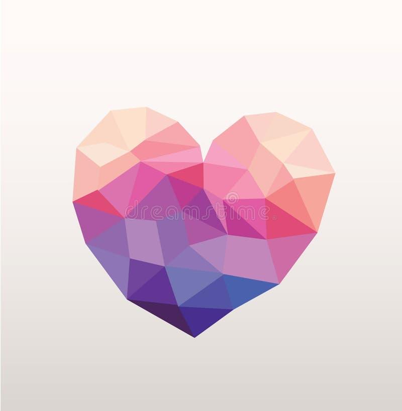 Corazón abstracto del inconformista ilustración del vector