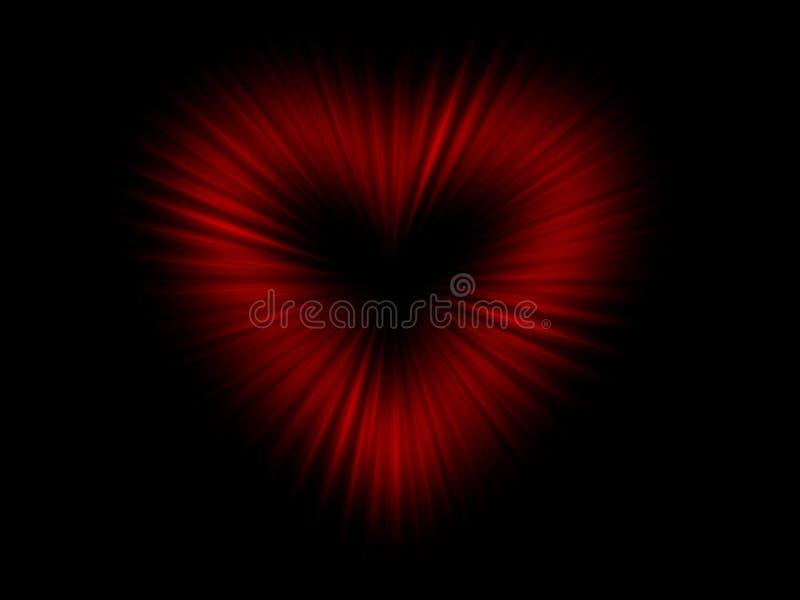 Corazón abstracto del rojo de la falta de definición stock de ilustración