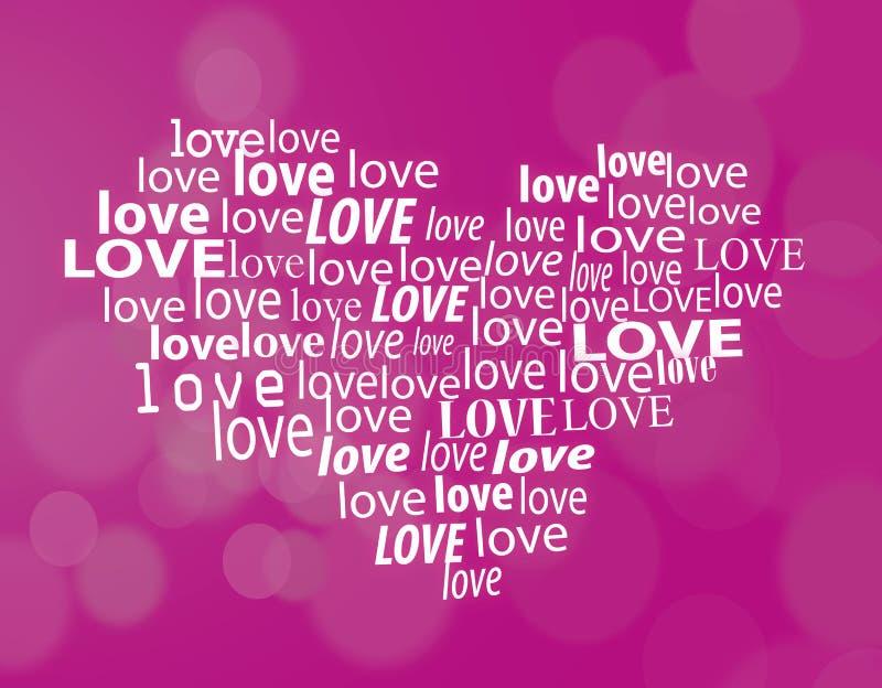 Corazón abstracto del texto de la tarjeta del día de San Valentín libre illustration