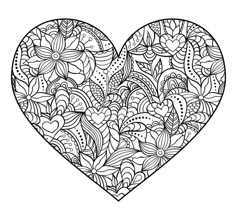 Corazón abstracto en el fondo blanco libre illustration