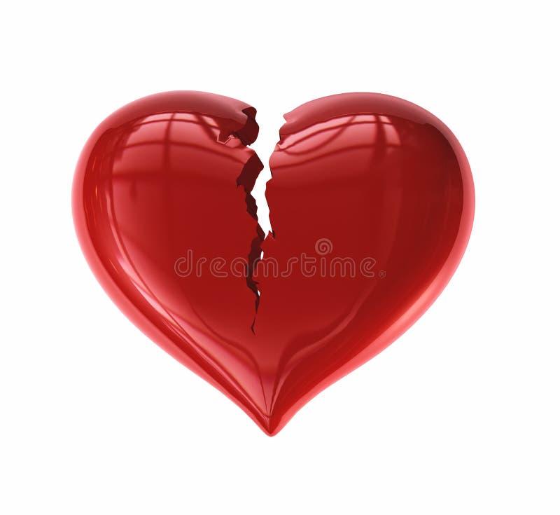 Corazón agrietado ilustración del vector