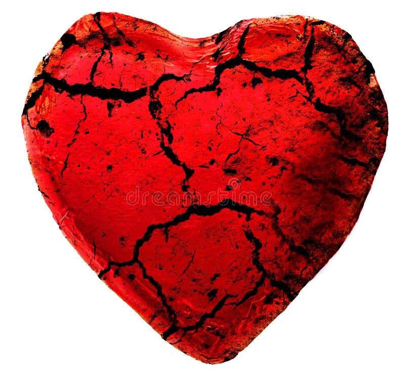 Corazón agrietado stock de ilustración