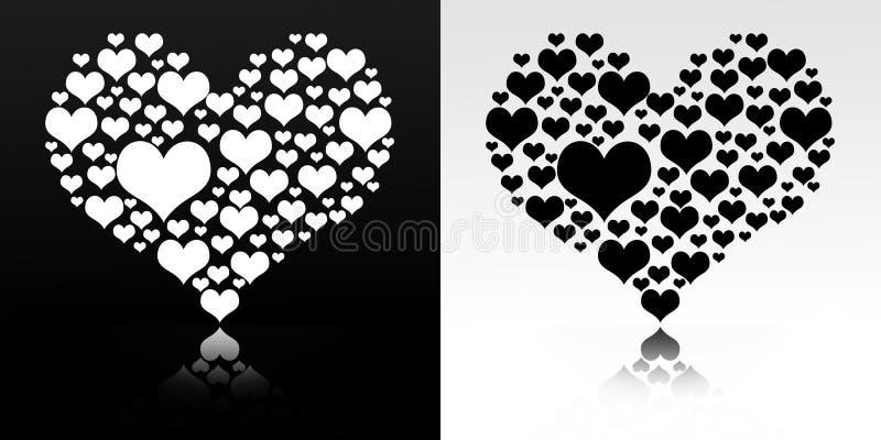 Corazón aislado en blanco y negro libre illustration