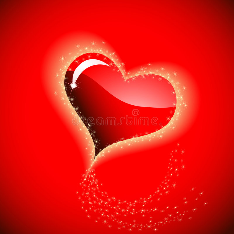 Corazón al St.Valentine ilustración del vector