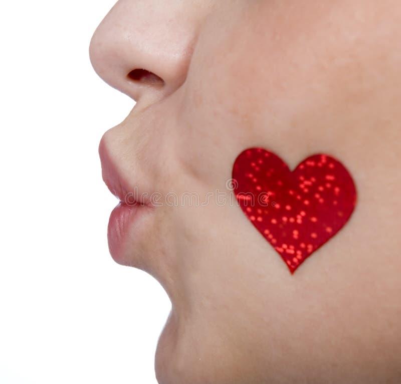 Corazón, amor, besándose, tarjeta del día de San Valentín, mujeres fotografía de archivo