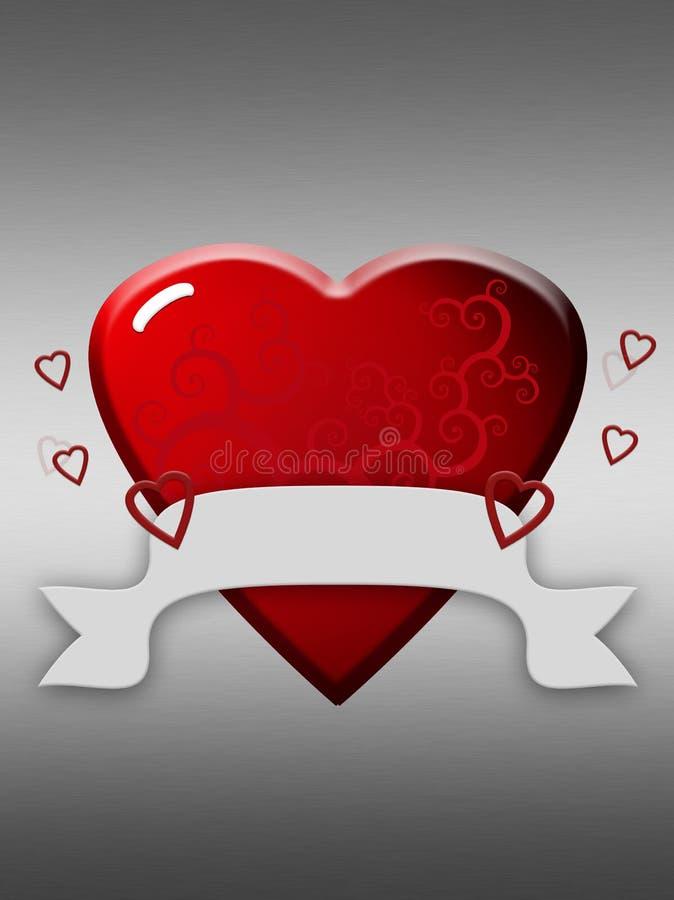 Corazón aplicado con brocha ilustración del vector