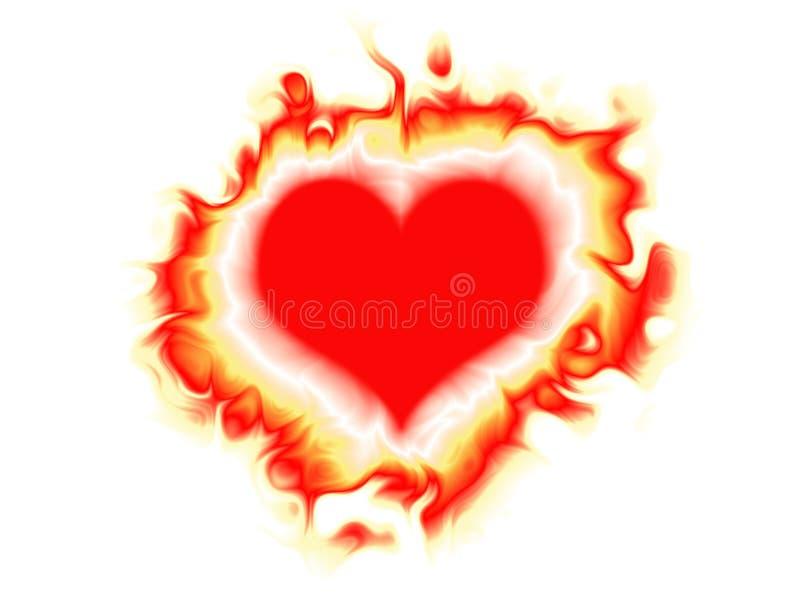 Corazón ardiente ilustración del vector