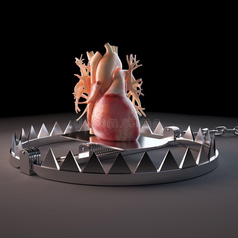 Corazón atrapado ilustración del vector