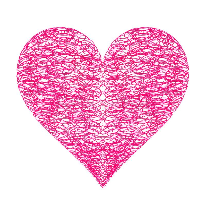 Corazón brillante abstracto en el fondo blanco libre illustration