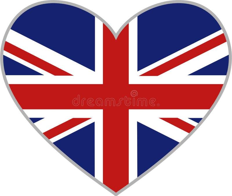 Corazón británico ilustración del vector