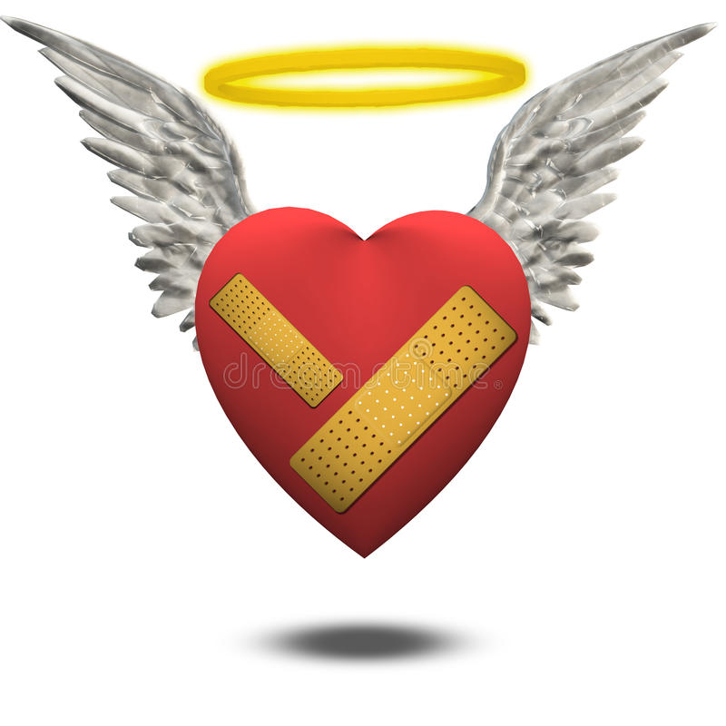 Corazón bueno pero herido ilustración del vector
