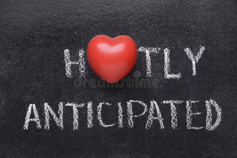 Corazón caliente anticipado foto de archivo