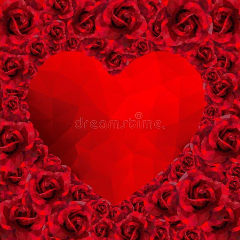 Corazón Color De Rosa Romántico Para El Estilo Polivinílico Bajo Del ...