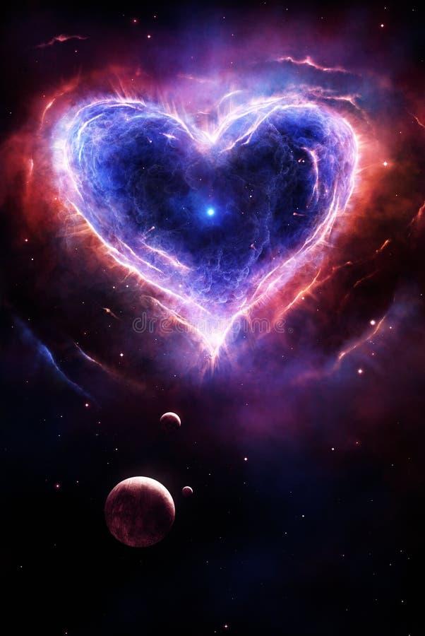 Corazón colorido de la supernova stock de ilustración