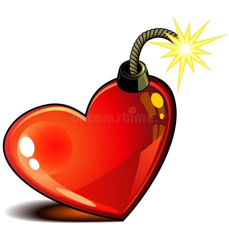 Corazón con el fieltro stock de ilustración